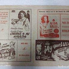 Cine: CINEMA MARTINENSE BARCELONA.SEMANA DE CINE FOLLETO.AÑO 1948.LA GITANA Y REY,AY QUE LULU... Lote 215829863
