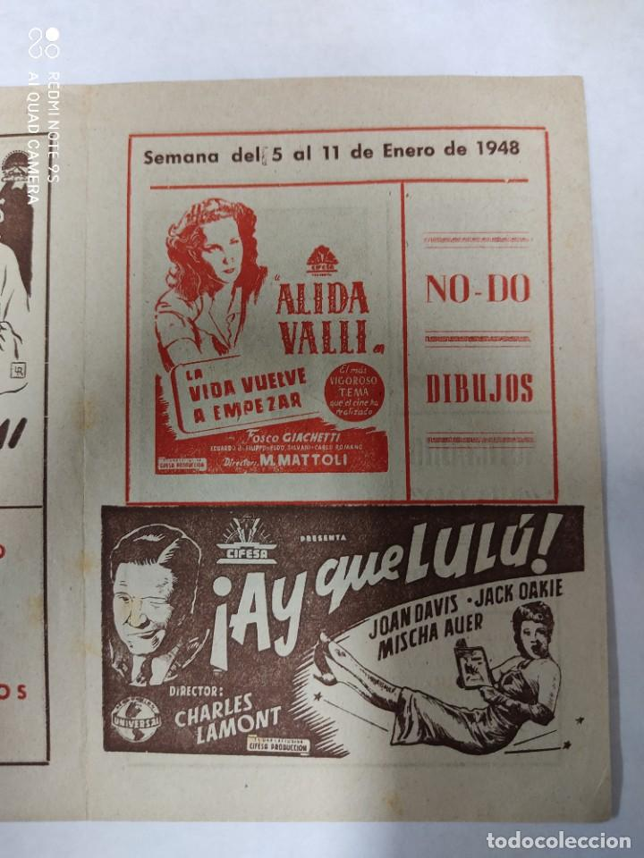 Cine: CINEMA MARTINENSE BARCELONA.SEMANA DE CINE FOLLETO.AÑO 1948.LA GITANA Y REY,AY QUE LULU.. - Foto 4 - 215829863