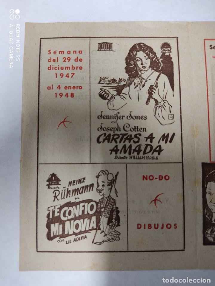 Cine: CINEMA MARTINENSE BARCELONA.SEMANA DE CINE FOLLETO.AÑO 1948.LA GITANA Y REY,AY QUE LULU.. - Foto 5 - 215829863