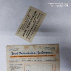 Cine: ANUNCIO FOLLETOS JOSÉ FERNÁNDEZ RODRÍGUEZ, ANTIGUO FOLLETO PUBLICITARIO DE REVISTAS Y TEMAS DE CINE.. Lote 215831098