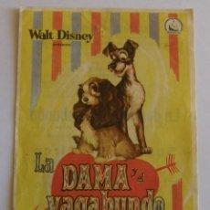 Cine: PROGRAMA DE CINE LA DAMA Y EL VAGABUNDO. Lote 243229205
