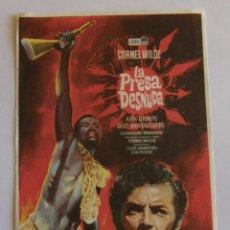 Cine: PROGRAMA DE CINE LA PRESA DESNUDA. Lote 215929120