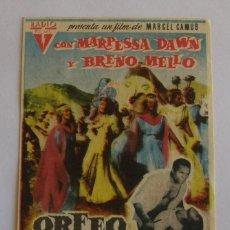 Cine: PROGRAMA DE CINE ORFEO NEGRO. Lote 215929376