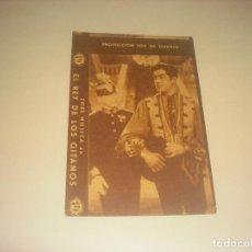 Folhetos de mão de filmes antigos de cinema: EL REY DE LOS GITANOS . JOSE MOJICA 1932 . PRODUCCION FOX EN ESPAÑOL . CINE ARENAS.. Lote 216021910