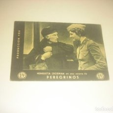 Folhetos de mão de filmes antigos de cinema: PEREGRINOS , PRODUCCION FOX. CON HENRIETTA CROSMAN . CINE BEL 1934.. Lote 216022411