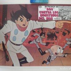 Folhetos de mão de filmes antigos de cinema: MEXICAN LOBBY CARD ASTROBOY SAIBOGU KAISHUU SENSOU CYBORG 009 UNDERGROUND 1967. Lote 216470932