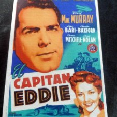 Flyers Publicitaires de films Anciens: PROGRAMA DE CINE - EL CAPITÁN EDDIE - MAC MURRAY - CINE CARMEN - PALAMÓS - 1946. Lote 216599688