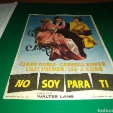 Cine: ANTIGUO PROGRAMA DE CINE NO SOY PARA TI. CON PUBLICIDAD CINE ARGENSOLA DE BARBASTRO. Lote 216771810