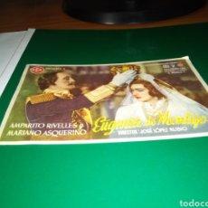 Cine: ANTIGUO PROGRAMA DE CINE EUGENIA DE MONTIJO. CON PUBLICIDAD CINE TEATRO MARIANA DE TALAVERA. 1944. Lote 216777637