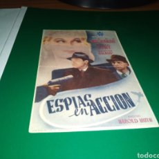 Cine: ANTIGUO PROGRAMA DE CINE ESPIAS EN ACCIÓN. CON PUBLICIDAD BAR CINE AMAFRA DE ZORITA (CÁCERES). Lote 216781400