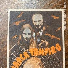 Cine: FOLLETO DE CINE LA MARCA DEL VAMPIRO CON ELIZABETH ALLAN Y LIONEL BARRYMORE 1940 METRO GOLDWYN MAYE. Lote 216867118