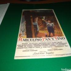 Flyers Publicitaires de films Anciens: ANTIGUO PROGRAMA DE CINE MARCELINO, PAN Y VINO. CON PUBLICIDAD CINEMA INFANTA. Lote 216925287