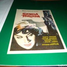 Flyers Publicitaires de films Anciens: ANTIGUO PROGRAMA DE CINE SIMPLE SENDA TORCIDA . CON PUBLICIDAD CINE ARGENSOLA DE BARBASTRO. Lote 216926080