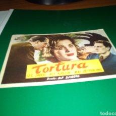 Cine: ANTIGUO PROGRAMA DE CINE SIMPLE. TORTURA. Lote 216928291