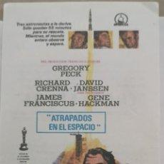 Flyers Publicitaires de films Anciens: ATRAPADOS EN EL ESPACIO CON PUBLICIDAD. Lote 216935192