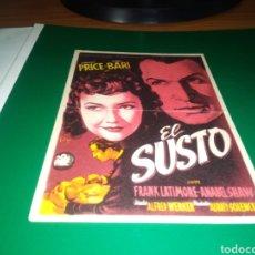 Cine: ANTIGUO PROGRAMA DE CINE SIMPLE EL SUSTO. CON PUBLICIDAD CINE RAMBLAS. Lote 216980477