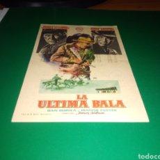 Cine: ANTIGUO PROGRAMA DE CINE LA ÚLTIMA BALA. CON PUBLICIDAD CINE ARGENSOLA DE BARBASTRO. Lote 216993726