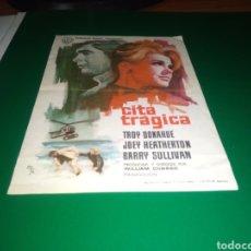 Cine: ANTIGUO PROGRAMA DE CINE CITA TRÁGICA. CON PUBLICIDAD CINE ARGENSOLA DE BARBASTRO. Lote 216993831