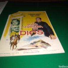 Cine: ANTIGUO PROGRAMA DE CINE SIMPLE. LA MANO IZQUIERDA DE DIOS. PUBLICIDAD CINE CORTÉS DE BARBASTRO.. Lote 217022630