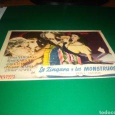 Cine: ANTIGUO PROGRAMA DE CINE SIMPLE. LA ZÍNGARA Y LOS MONSTRUOS. Lote 217166172