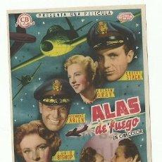 Folhetos de mão de filmes antigos de cinema: PROGRAMA CINE ALAS DE FUEGO. Lote 217197718
