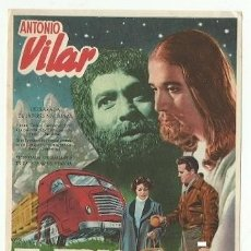 Foglietti di film di film antichi di cinema: PROGRAMA CINE EL JUDAS ANTONIO VILAR DIRECCION IGNACIO F IQUINO. Lote 217207358