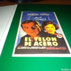 Cine: ANTIGUO PROGRAMA DE CINE SIMPLE. EL TELÓN DE ACERO. Lote 217211567
