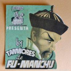 Folhetos de mão de filmes antigos de cinema: PROGRAMA DOBLE TROQUELADO - LOS TAMBORES DE FU- MANCHU- 1ª JORNADA-CINE VICTORIA- 9,5 X 9,5 CM.. Lote 217212710