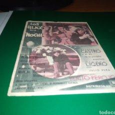 Cine: PROGRAMA CINE. LOS HIJOS DE LA NOCHE. MIGUEL LIGERO Y ESTR. CASTRO. CINE CALDERÓN. TALAVERA. 1940. Lote 217268761