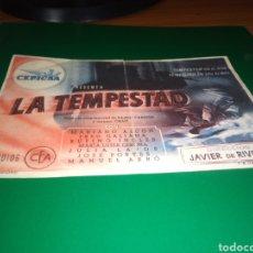 Flyers Publicitaires de films Anciens: ANTIGUO PROGRAMA DE CINE SIMPLE. LA TEMPESTAD. Lote 217271318