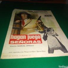 Cine: ANTIGUO PROGRAMA DE CINE SIMPLE. HAGAN JUEGO SEÑORAS. Lote 217376877