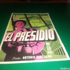 Cine: ANTIGUO PROGRAMA DE CINE SIMPLE. EL PRESIDIO. Lote 217377066
