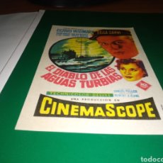 Cine: ANTIGUO PROGRAMA DE CINE SIMPLE. EL DIABLO DE LAS AGUAS TURBIAS. Lote 217386773