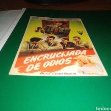 Cine: ANTIGUO PROGRAMA DE CINE SIMPLE. ENCRUCIJADA DE ODIOS. Lote 217443093