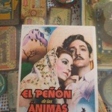 Cine: PROGRAMA DE CINE. EL PEÑÓN DE LAS ÁNIMAS. PATRONATO SOCIAL FEMENINO. MALLORCA. ESTADO VER IMÁGENES.. Lote 217471572