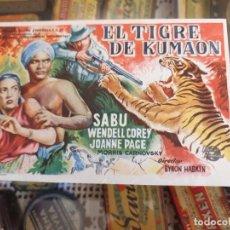 Cine: PROGRAMA DE CINE. EL TIGRE DE KUMAON. PATRONATO SOCIAL FEMENINO. MALLORCA. ESTADO VER IMÁGENES.. Lote 217473380