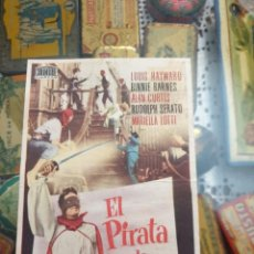 Cine: PROGRAMA DE CINE. EL PIRATA DE CAPRI. TEATRO PRINCIPAL. MALLORCA. ESTADO VER IMÁGENES.. Lote 217474187
