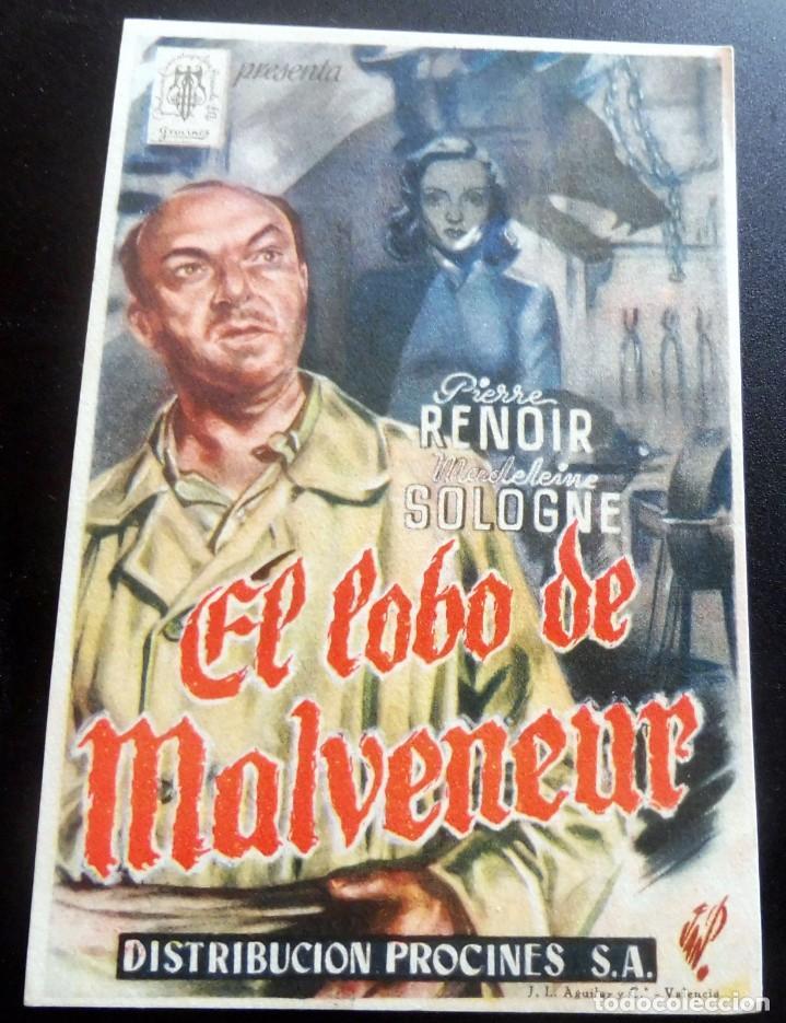 PROGRAMA DE CINE - EL LOBO DE MALVENEUR - S/P (Cine - Folletos de Mano - Terror)