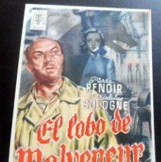 Cine: PROGRAMA DE CINE - EL LOBO DE MALVENEUR - S/P. Lote 217600081