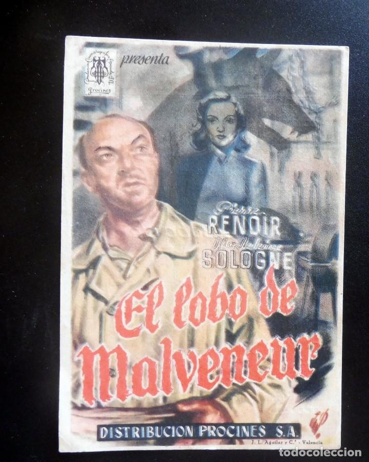 PROGRAMA DE CINE - EL LOBO DE MALVENEUR - CINE ORIENTE (Cine - Folletos de Mano - Terror)