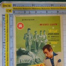Cine: PROGRAMA CARTEL DE MANO CINE. PELÍCULA SITIADOS EN LA CIUDAD. SIN PUBLICIDAD. 18. Lote 217636958