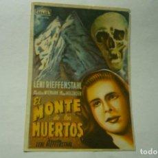Cine: PROGRAMA EL MONTE DE LO MUERTOS- ¡¡SELLO DORSO CINE MORENO- CONIL ¡¡. Lote 217649130