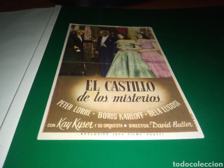 ANTIGUO PROGRAMA DE CINE SIMPLE. EL CASTILLO DE LOS MISTERIOS (Cine - Folletos de Mano - Terror)