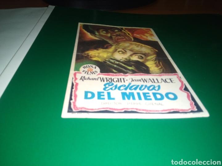 ANTIGUO PROGRAMA DE CINE SIMPLE. ESCLAVOS DEL MIEDO (Cine - Folletos de Mano - Terror)