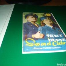 Cine: ANTIGUO PROGRAMA DE CINE SIMPLE. DOS EN EL CIELO. Lote 217726720