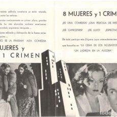 Cine: PROGRAMA DE CINE - 8 MUJERES Y 1 CRIMEN - BARBARA STANWYCK Y HENRY FONDA - 1938.. Lote 217747842