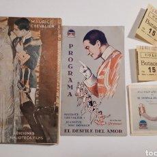 Cine: EL DESFILE DEL AMOR. MAURICE CHEVALIER. COLISEUM, 1930.. Lote 217748077