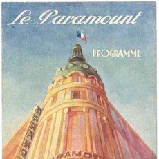 Cine: PROGRAMA DE CINE - LE PARAMOUNT - MAURICE CHEVALIER - LA GRANDE MARE - 1930. Lote 217754633