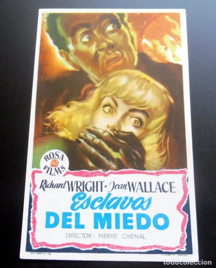 PROGRAMA DE CINE - ESCLAVOS DEL MIEDO - CINE CARMEN DE PALAMÓS (Cine - Folletos de Mano - Terror)