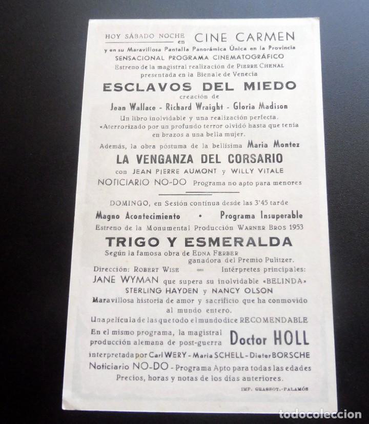 Cine: PROGRAMA DE CINE - ESCLAVOS DEL MIEDO - CINE CARMEN DE PALAMÓS - Foto 2 - 217802838